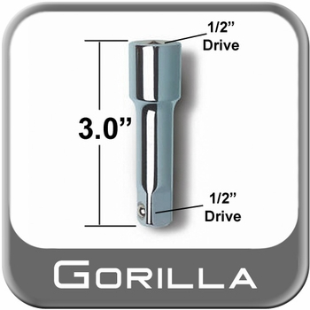 "Gorilla® Power Wrench Extension 3"" Long x 1/2"" Drive Sold Individually #3EXT"