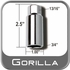 "Gorilla® Thin Wall Lug Adapter 13/16"" Male x 3/4"" Female Sold Individually #1316-34L"