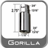 """Gorilla® Thin Wall Lug Adapter 3/4"""" & 13/16"""" Male x 3/4"""" & 13/16"""" Female Sold Individually #34-1316DS"""