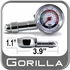 Gorilla® Tire Pressure Gauge Dial Style Sold Individually #TG2
