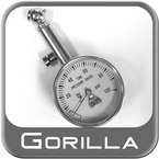 Gorilla® Tire Pressure Gauge Premium Dial Style Sold Individually #TG4