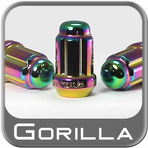 Gorilla® 12mm x 1.5 Lug Nuts Tapered (Bulge)(60°) Seat Right Hand Thread Prizm Chrome Sold Individually #21138PL