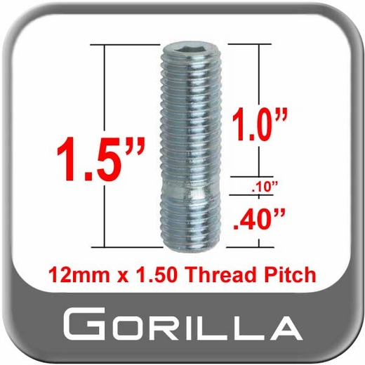 Gorilla® Silver Wheel Stud Open (Female) Sold Individually #77738S