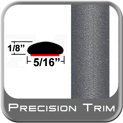 """5/16"""" Wide Gray Wheel Molding Trim (PT83) Sold by the Foot Precision Trim® #24200-83-01"""