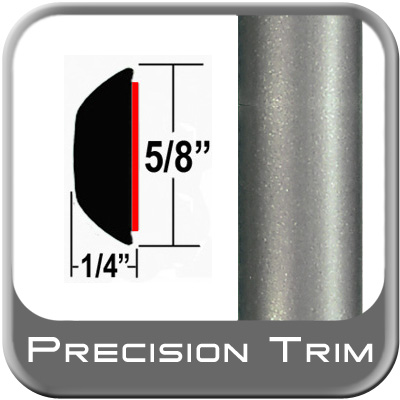 """5/8"""" Wide Gray Wheel Molding Trim (PT57) Sold by the Foot Precision Trim® #37130-57-01"""