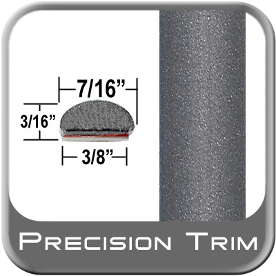 "7/16"" Wide Gray Wheel Molding Trim (PT83) Sold by the Foot Precision Trim® #2150-83-01"