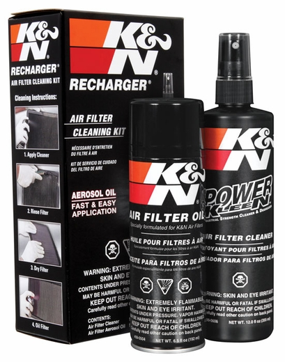 K&N Air Filter Cleaner Kit Air Filter Element Cleaning Service Kit Cleaner w/Spray Oil Plus 12 oz. Filter Cleaner Solution (spray pump) #99-5000
