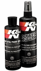 K&N Air Filter Cleaner Kit Air Filter Element Cleaning Service Kit Cleaner w/Squeeze Oil Bottle Plus 12 oz. Filter Cleaner Solution (spray pump) #99-5050