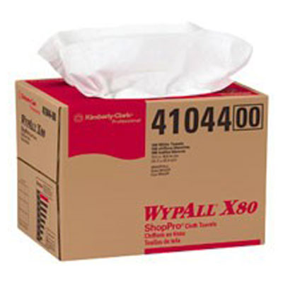 Kimberly Clark Wypall X80 ShopPro Towel Brag Box White #41044