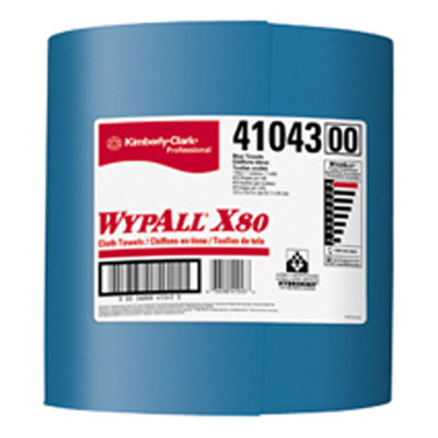 Kimberly Clark Wypall X80 ShopPro Towel Jumbo Roll Blue #41043
