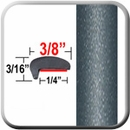 """L"" Style Gray (Dark) Car Door Guards (PT84) Sold by the Foot Precision Trim® #1180-84-01"