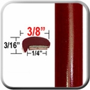 """L"" Style Red (Dark) Car Door Guards (PT31) Sold by the Foot Precision Trim® #1180-31-01"