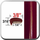 """L"" Style Red (Dark) Car Door Guards (PT44) Sold by the Foot Precision Trim® #1180-44-01"
