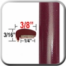 """L"" Style Red (Dark) Car Door Guards (PT65) Sold by the Foot Precision Trim® #1180-65-01"
