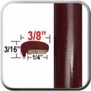 """L"" Style Red (Dark) Car Door Guards (PT72) Sold by the Foot Precision Trim® #1180-72-01"