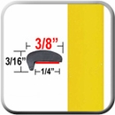 """L"" Style Yellow Car Door Guards (PT46) Sold by the Foot Precision Trim® #1180-46-01"