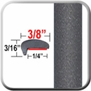 """L"" Style Graphite Pearl Door Edge Guards 8T1 (CP63) Sold by the Foot ColorTrim Plastics® #10-63"