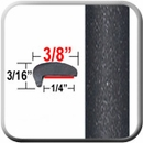 """L"" Style Magnetic Gray Door Edge Guards 1G3 (CP18) Sold by the Foot ColorTrim Plastics® #10-18"