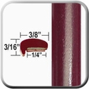 """L"" Style Medium Red Metallic Door Edge Guards (CP41) Sold by the Foot ColorTrim Plastics® #10-41"