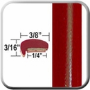"""L"" Style Milano Red Door Edge Guards (CP85) Sold by the Foot ColorTrim Plastics® #10-85"