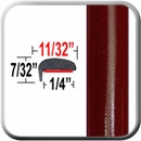 """L"" Style Ruby Red Metallic Door Edge Guards 0RR ( TG0RR ), Sold by the Foot, Trim Gard® # NE0RR-01"