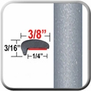 """L"" Style Silver Metallic Door Edge Guards 1D6 (CP10) Sold by the Foot ColorTrim Plastics® #10-10"