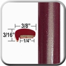 """L"" Style Tango Red Door Edge Guards (CP23) Sold by the Foot ColorTrim Plastics® #10-23"
