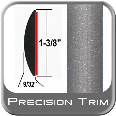 "1-3/8"" Wide Gray (Light) Molding Trim (PT91) Sold by the Foot Precision Trim® #17100-91-01"