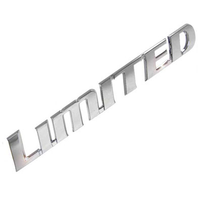 """LIMITED"" Emblem Badge Chrome Plated Set of 7 Letters Genuine Toyota #PT413-89100"