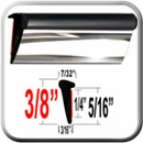 Lip Style Black-Chrome Car Door Guards Sold by the Foot Cowles® #39-650-01
