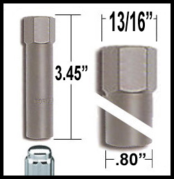 McGard® Lug Nut Key Small 8-Splined (Female) Sold Individually #65300