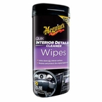 Meguiars Quik Interior Detailer Wipers Vinyl/Rubber Protectant 25 wipes #G13600