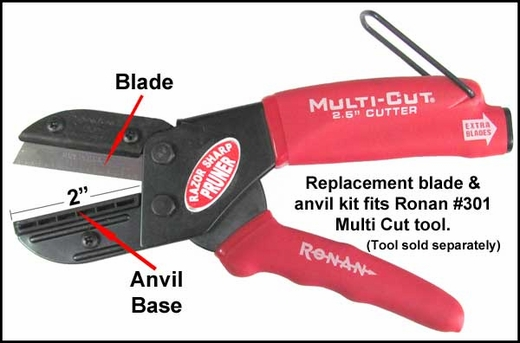 "Ronan Molding Cutter Replacement Blades 2"" Blades w/Anvil Base #30178"