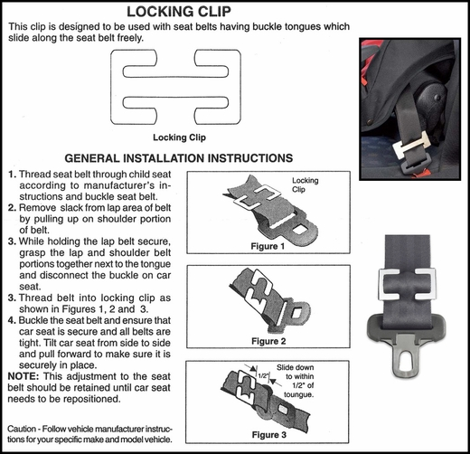 Motormite Seat Belt Clip Seat Belt Locking Clip Sold Individually #74356