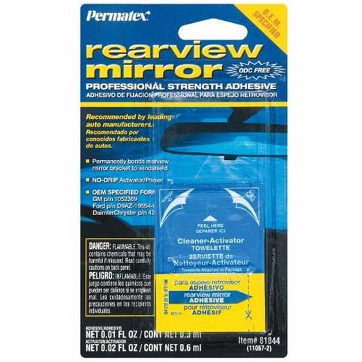 Permatex Rearview Mirror Adhesive Professional Strength #81844