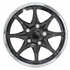 "Pilot Automotive 14"" Black Hub Caps Black w/Chrome Trim, 8-Spoke Set of 4 #WH522-14C-B"
