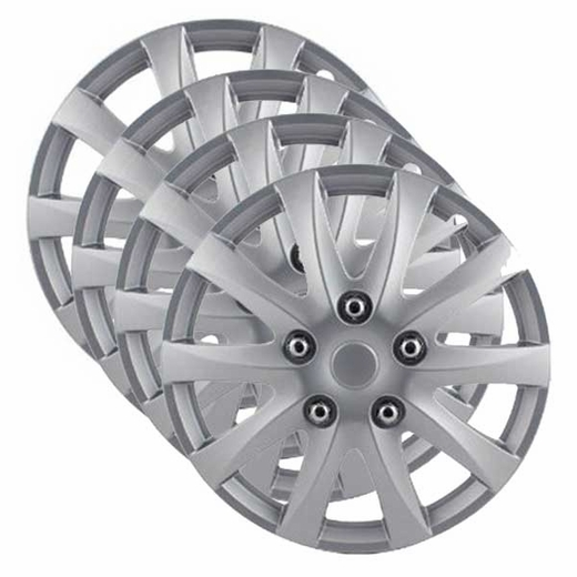 "Camry Style, 10-Spoke 14"" Silver Hub Caps Pilot Automotive® #WH526-14S-BX"
