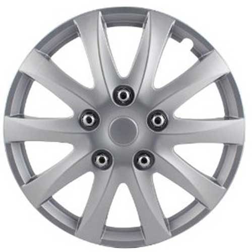 "Pilot Automotive 14"" Silver Hub Caps Camry Style, 10-Spoke Set of 4 #WH526-14S-BX"