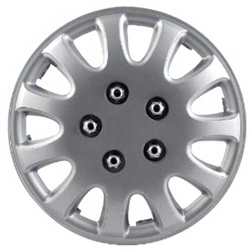 "Pilot Automotive 15"" Silver Hub Caps 5-Lug Style, 11-Spoke Set of 4 #WH525-15S-BX"