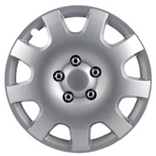 "Pilot Automotive 16"" Silver Hub Caps Gear Style, 9-Spoke Set of 4 #WH524-16S-BX"