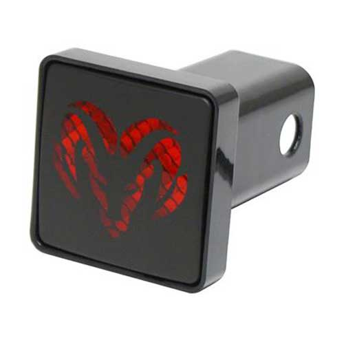 """LED Hitch Cover Dodge Hitch Cover Lighted Hitch Cover fits 2"""" Trailer Hitches Pilot Automotive® #CR007D"""
