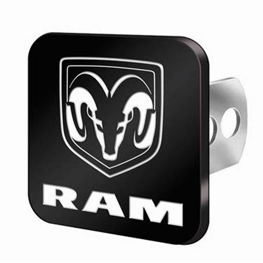 "Plasticolor Dodge Ram Hitch Cover Brushed Billet Aluminum fits 2"" and 1-1/4"" Trailer Hitches #2237"