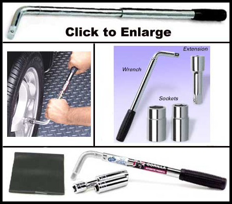 "Gorilla® Power Wrench Lug Wrench Kit w/Telescoping Handle to 22"" Sold Individually #1334"