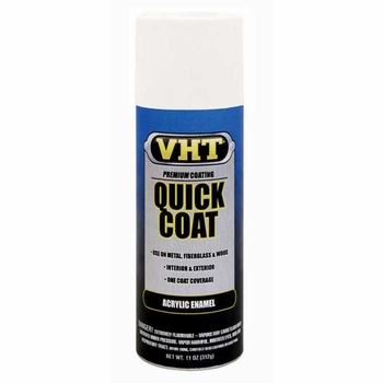 Gloss White Quick Coat® Acrylic Enamel Spray Paint 11 ounce VHT #SP509