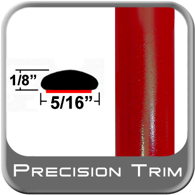 "5/16"" Wide Red Wheel Molding Trim (PT61) Sold by the Foot Precision Trim® #24200-61-01"