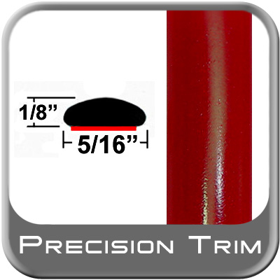 """5/16"""" Wide Red Wheel Molding Trim (PT88) Sold by the Foot Precision Trim® #24200-88-01"""