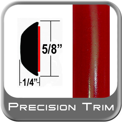 "5/8"" Wide Red Wheel Molding Trim (PT88) Sold by the Foot Precision Trim® #37130-88-01"
