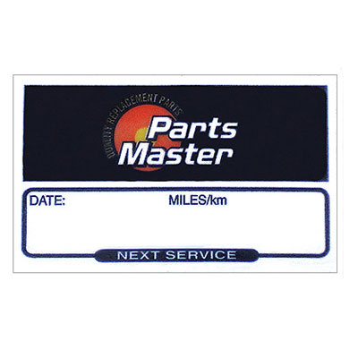 Parts Master Service Reminder Labels Filter, Service or Oil Change Sticker Static Cling Peel-n-Stick Reminder #4802J