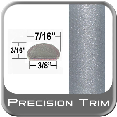 "7/16"" Wide Silver Fender Trim (PT37) Sold by the Foot Precision Trim® #2150-37-01"