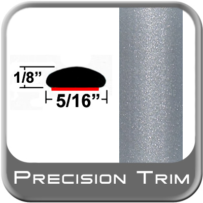 """5/16"""" Wide Silver Wheel Molding Trim (PT37) Sold by the Foot Precision Trim® #24200-37-01"""